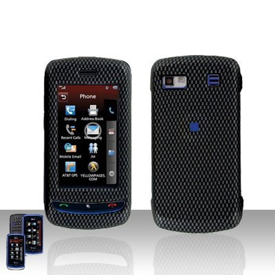 Carbon Design  Cover Case Hard Case Snap on Cover Plus Car Charger for LG Xenon GR500