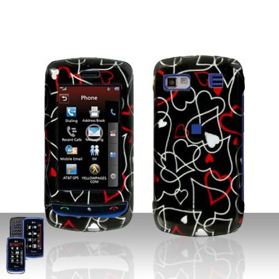 LG Xenon  GR 500  Heart  Cover Case Hard Case Snap on Cover + LCD Screen Cover +Car Charger