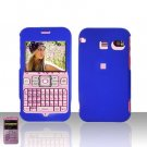 Sanyo 2700 Sprint Blue Cover Case Rubberized  Snap on Protector Plus Car Charger