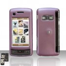 Light  Purple Cover Case  Snap on Protector + Car Charger for LG enV TOUCH VX11000