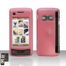Light  Pink Cover Case  Snap on Protector + Car Charger for LG enV TOUCH VX11000