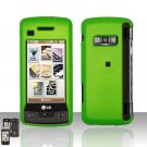 Neon Green Cover Case  Snap on Protector + Car Charger for LG enV TOUCH VX11000