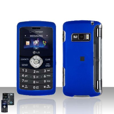 Blue Cover Case Rubberized  Snap on Protector + LCD Screen Cover for LG env3 VX9200