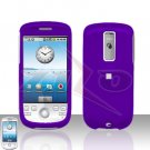 T-MOBILE HTC G2 MyTouch 3G  Purple Cover Case Rubberized  Snap on Protector