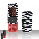 Pink and Black Zebra Cover Case Rubberized  Snap on Protector for Samsung Trance U490
