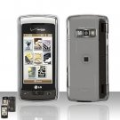 Transparent Clear Cover Case Snap on Protector + Car Charger for LG enV TOUCH VX11000