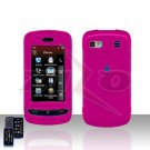 Pink Case Plastic Snap on Protector + Car Charger for LG Xenon GR500