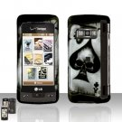 Skull Spade Rubberized Case Snap on Protector for LG enV TOUCH VX11000