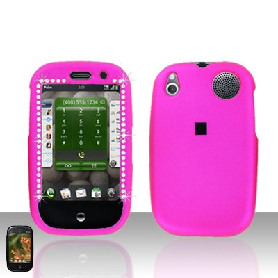 Palm Pre Pink Diamond Rubberized Cover Case Snap on Protector