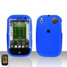 Palm Pre Blue Diamond Rubberized Cover Case Snap on Protector