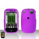 Palm Pre Purple Diamond Rubberized Cover Case Snap on Protector