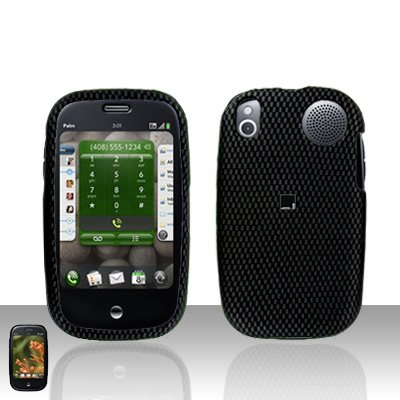 Palm Pre Carbon Fiber Rubberized Cover Case Snap on Protector