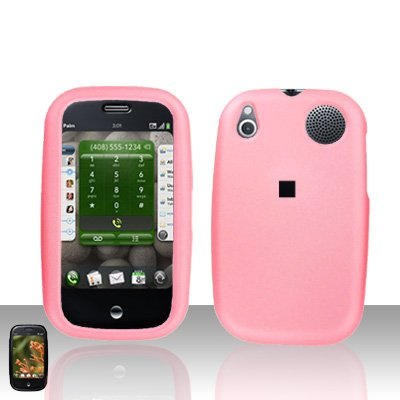 Palm Pre Light Pink Rubberized Cover Case Snap on Protector