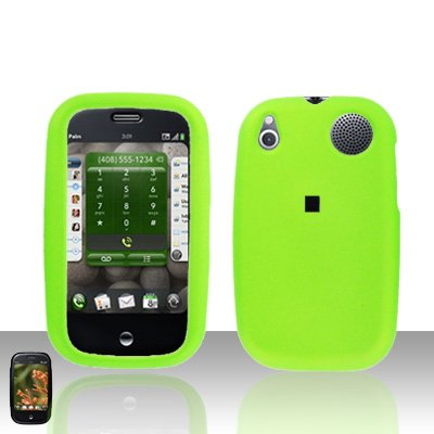 Palm Pre Neon Green Rubberized Cover Case Snap on Protector
