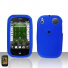 Palm Pre Blue Rubberized Cover Case Snap on Protector