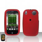 Palm Pre Red Rubberized Cover Case Snap on Protector
