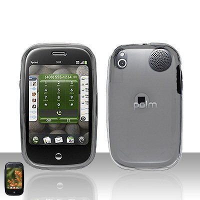 Palm Pre Clear Transparent Rubberized Cover Case Snap on Protector