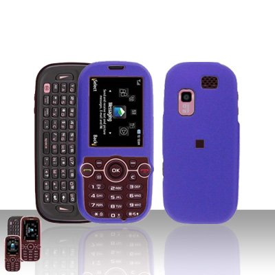 Purple Cover Case Rubberized  Snap on Protector for Samsung Gravity 2 T469