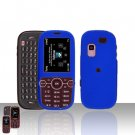 Blue Cover Case Rubberized  Snap on Protector for Samsung Gravity 2 T469