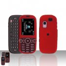 Red Cover Case Rubberized  Snap on Protector for Samsung Gravity 2 T469
