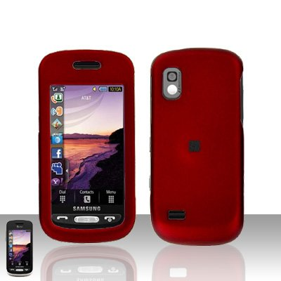 Red Cover Case Rubberized  Snap on Protector for Samsung Solstice A887