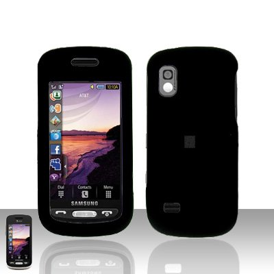 Black Cover Case Rubberized  Snap on Protector for Samsung Solstice A887