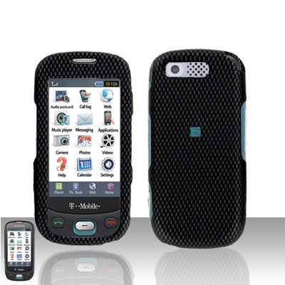 Carbon Fiber Design Cover Case Rubberized  Snap on Protector for Samsung Highlight T749