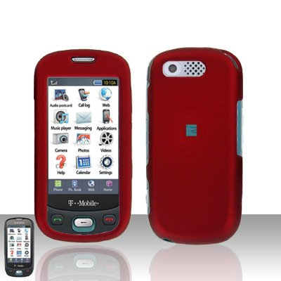 Red Cover Case Rubberized  Snap on Protector for Samsung Highlight T749