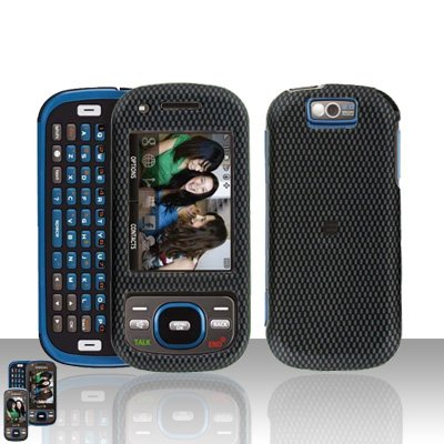 Samsung Exclaim M550 Carbon Fiber Cover Case Rubberized  Snap on Protector