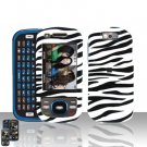 Samsung Exclaim M550 Zebra Cover Case Rubberized  Snap on Protector