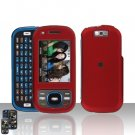 Samsung Exclaim M550 Red Cover Case Rubberized  Snap on Protector