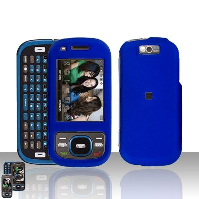 Samsung Exclaim M550 Blue Cover Case Rubberized  Snap on Protector