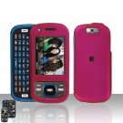 Samsung Exclaim M550 Pink Cover Case Rubberized  Snap on Protector