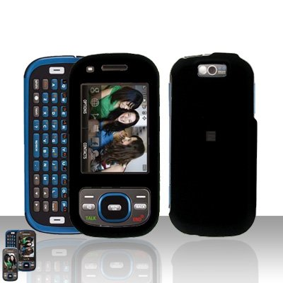 Samsung Exclaim M550 Black Cover Case Rubberized  Snap on Protector