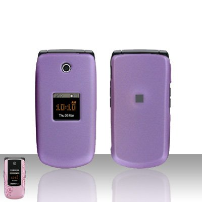 Purple Cover Case Hard Cover  Snap on Protector for Samsung Tint R420