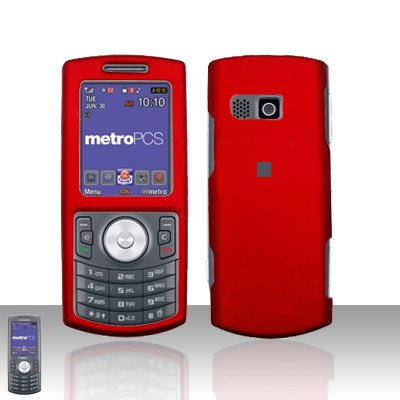Red Cover Case Rubberized  Snap on Protector for Samsung Messager 2 R560