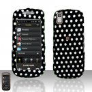 Polka Dots Cover Case Rubberized  Snap on Protector for Samsung Instinct 2 S30 M810
