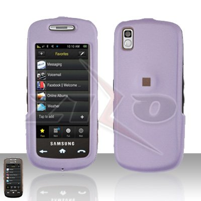Light Purple Cover Case Rubberized  Snap on Protector for Samsung Instinct 2 S30 M810