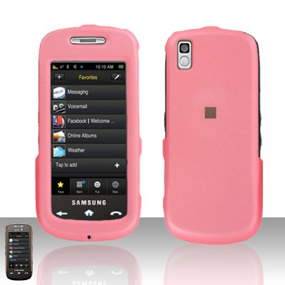 Light Pink Cover Case Rubberized  Snap on Protector for Samsung Instinct 2 S30 M810