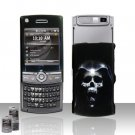 Hooded Skull Design Rubberized Hard Case Snap on Protector for Samsung Propel Pro i627
