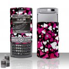Colorful Hearts Design Rubberized Hard Case Snap on Protector for Samsung Propel Pro i627