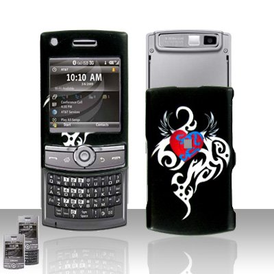 Tattoo Heart Design Rubberized Hard Case Snap on Protector for Samsung Propel Pro i627