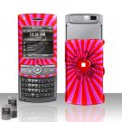 Red Heart Design Rubberized Hard Case Snap on Protector for Samsung Propel Pro i627