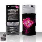 Heart Design Rubberized Hard Case Snap on Protector for Samsung Propel Pro i627
