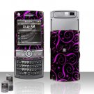 Purple Stars Rubberized Hard Case Snap on Protector for Samsung Propel Pro i627