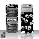 Falling Skulls Design Rubberized Hard Case Snap on Protector for Samsung Propel Pro i627