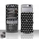 Polka Dots Rubberized Hard Case Snap on Protector for Samsung Propel Pro i627