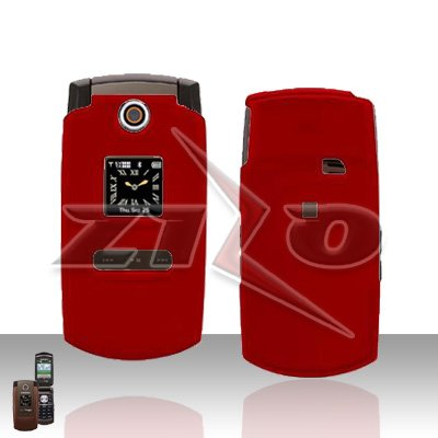 Red Rubberized Hard Snap on Case Protector for Samsung Renown U810 Sam U810