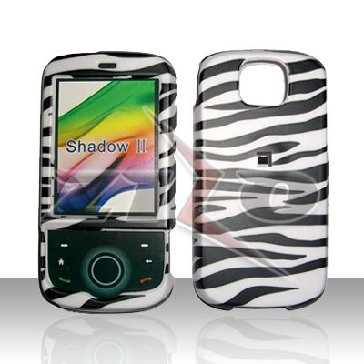 HTC Shadow II Zebra Rubberized Cover Case Snap on Protector