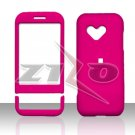 HTC Google G1 Android Pink Rubberized Cover Case Snap on Protector